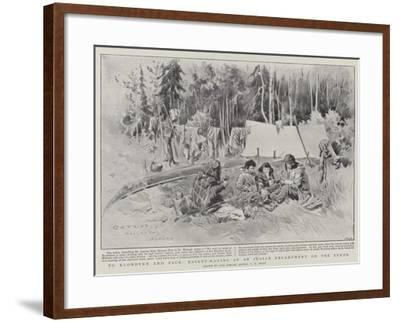 To Klondyke and Back, Basket-Making at an Indian Encampment on the Yukon-Charles Edwin Fripp-Framed Giclee Print