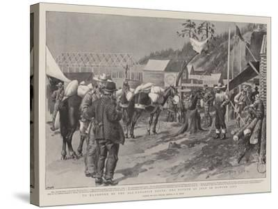 To Klondyke by the All-Canadian Route, the Fourth of July in Dawson City-Charles Edwin Fripp-Stretched Canvas Print