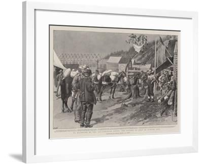 To Klondyke by the All-Canadian Route, the Fourth of July in Dawson City-Charles Edwin Fripp-Framed Giclee Print