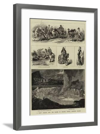 A Night Descent into the Crater of Kilauea, Hawaii, Sandwich Islands-Charles Edwin Fripp-Framed Giclee Print