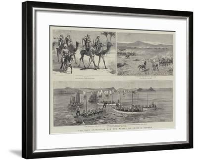 The Nile Expedition for the Relief of General Gordon-Charles Edwin Fripp-Framed Giclee Print