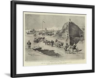 The Gap in the Great Wall of China at Shan-Hai-Kwan-Charles Edwin Fripp-Framed Giclee Print