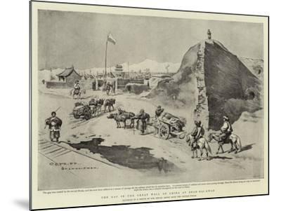 The Gap in the Great Wall of China at Shan-Hai-Kwan-Charles Edwin Fripp-Mounted Giclee Print