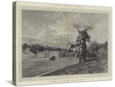 Donington Hall, the Seat of Lord Donington-Charles Auguste Loye-Stretched Canvas Print