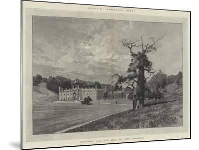Donington Hall, the Seat of Lord Donington-Charles Auguste Loye-Mounted Giclee Print