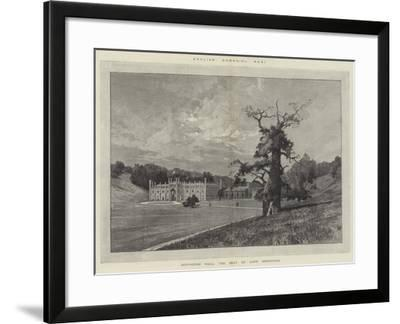 Donington Hall, the Seat of Lord Donington-Charles Auguste Loye-Framed Giclee Print