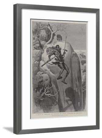 A Leap of Despair, an Episode of Kopje Fighting in Rhodesia-Charles Edwin Fripp-Framed Giclee Print