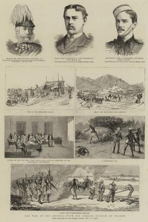 The War in the Soudan, with Sir Gerald Graham at Suakim-Charles Edwin Fripp-Framed Giclee Print