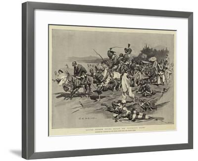 Routed Chinese Flying before the Victorious Enemy-Charles Edwin Fripp-Framed Giclee Print