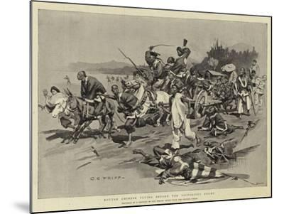 Routed Chinese Flying before the Victorious Enemy-Charles Edwin Fripp-Mounted Giclee Print