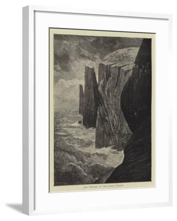 Sea Fowling in the Faroe Islands-Charles Auguste Loye-Framed Giclee Print