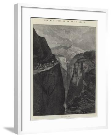 The War, Passage of the Balkans-Charles Auguste Loye-Framed Giclee Print