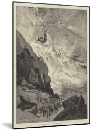 An Avalanche in Northern Italy-Charles Auguste Loye-Mounted Giclee Print