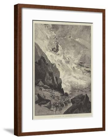 An Avalanche in Northern Italy-Charles Auguste Loye-Framed Giclee Print