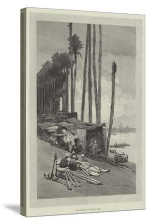 The Harbour of Boulak, Cairo-Charles Auguste Loye-Stretched Canvas Print