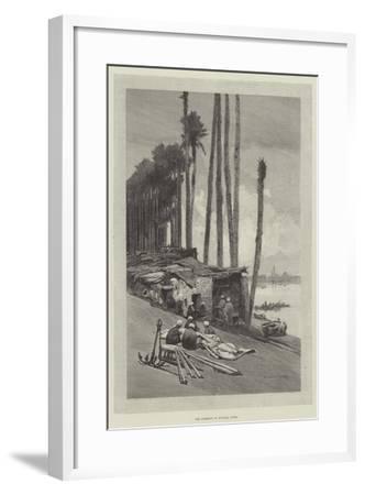 The Harbour of Boulak, Cairo-Charles Auguste Loye-Framed Giclee Print