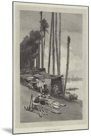 The Harbour of Boulak, Cairo-Charles Auguste Loye-Mounted Giclee Print