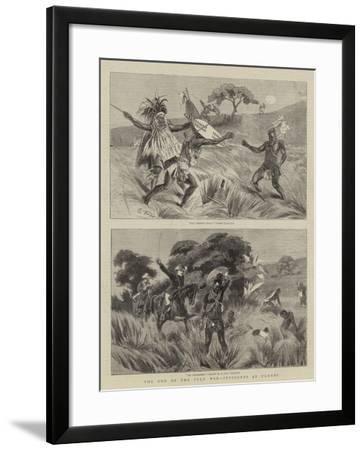 The End of the Zulu War, Incidents at Ulundi-Charles Edwin Fripp-Framed Giclee Print