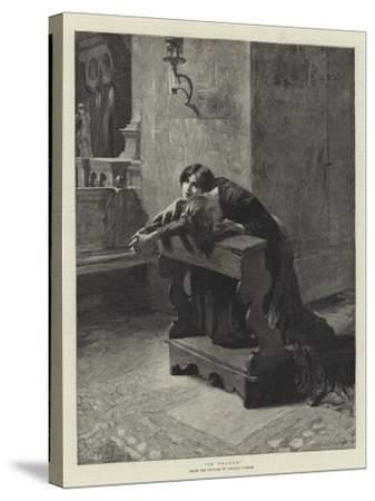 In Prayer-Charles Frederic Ulrich-Stretched Canvas Print