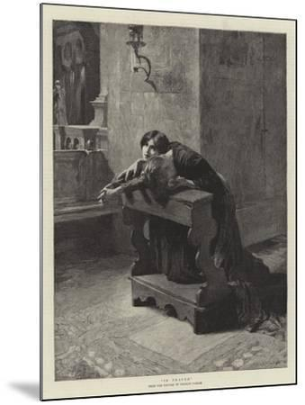 In Prayer-Charles Frederic Ulrich-Mounted Giclee Print