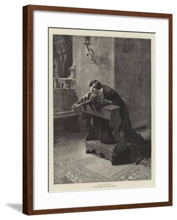 In Prayer-Charles Frederic Ulrich-Framed Giclee Print