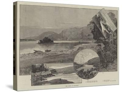 The Lakes of Killarney-Charles Auguste Loye-Stretched Canvas Print