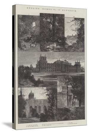 English Home, Blenheim-Charles Auguste Loye-Stretched Canvas Print