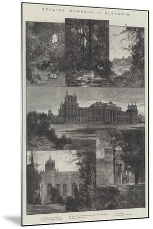 English Home, Blenheim-Charles Auguste Loye-Mounted Giclee Print