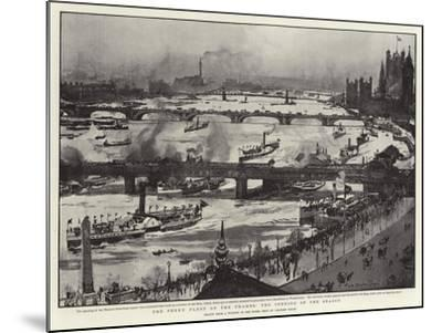 The Penny Fleet of the Thames, the Opening of the Season-Charles Edward Dixon-Mounted Giclee Print