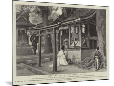 A Priest before a Fox Shrine, Japan-Charles Edwin Fripp-Mounted Giclee Print