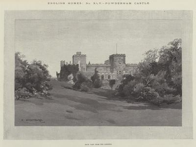 Powderham Castle-Charles Auguste Loye-Framed Giclee Print