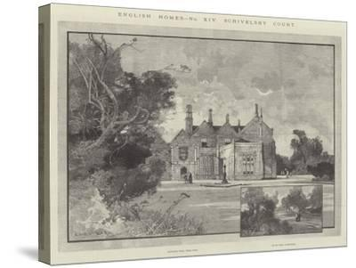Scrivelsby Court-Charles Auguste Loye-Stretched Canvas Print