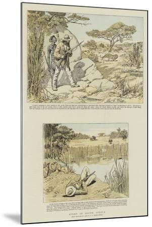 Sport in South Africa-Charles Edwin Fripp-Mounted Giclee Print