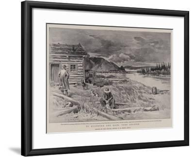To Klondyke and Back, Fort Selkirk-Charles Edwin Fripp-Framed Giclee Print