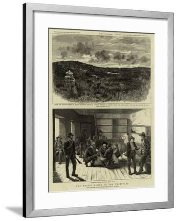 The Recent Rising in the Transvaal-Charles Edwin Fripp-Framed Giclee Print