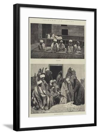 Sketches in Cairo-Charles Auguste Loye-Framed Giclee Print