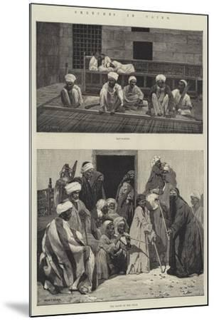 Sketches in Cairo-Charles Auguste Loye-Mounted Giclee Print