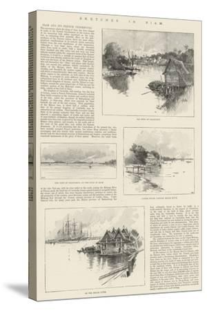Sketches in Siam-Charles Auguste Loye-Stretched Canvas Print