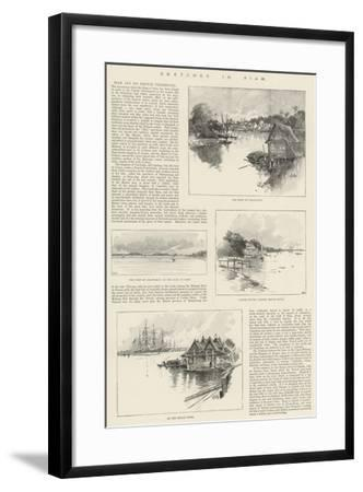Sketches in Siam-Charles Auguste Loye-Framed Giclee Print