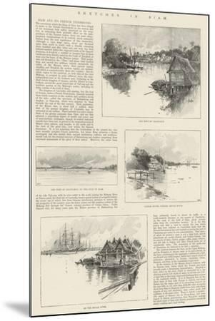 Sketches in Siam-Charles Auguste Loye-Mounted Giclee Print