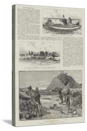 The Matabili War-Charles Auguste Loye-Stretched Canvas Print