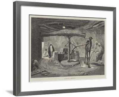 A Corn Mill in Lower Egypt-Charles Auguste Loye-Framed Giclee Print