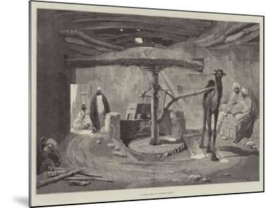 A Corn Mill in Lower Egypt-Charles Auguste Loye-Mounted Giclee Print