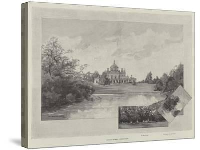 English Homes, Stoke Park-Charles Auguste Loye-Stretched Canvas Print