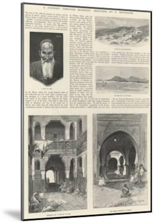 A Journey Through Morocco-Charles Auguste Loye-Mounted Giclee Print