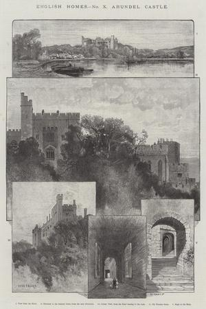 Arundel Castle-Charles Auguste Loye-Stretched Canvas Print