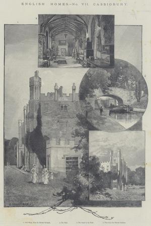 English Homes, Cassiobury-Charles Auguste Loye-Stretched Canvas Print