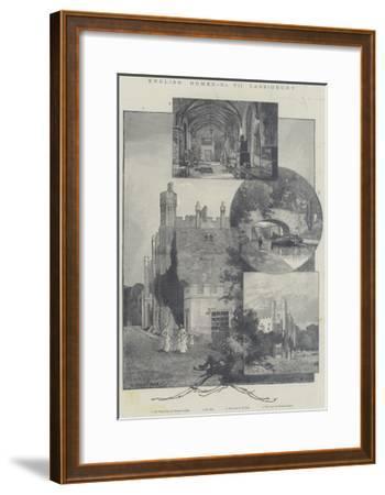 English Homes, Cassiobury-Charles Auguste Loye-Framed Giclee Print
