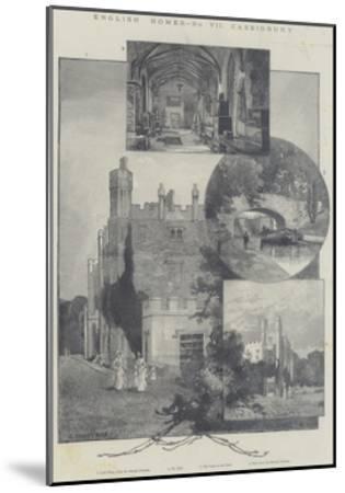 English Homes, Cassiobury-Charles Auguste Loye-Mounted Giclee Print