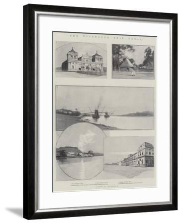 The Nicaragua Ship Canal-Charles Auguste Loye-Framed Giclee Print
